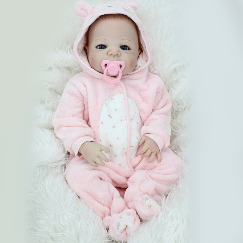 22 Inch 55 CM Full Silicone Reborn Baby Dolls Soft Touch ...