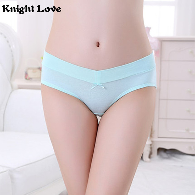 3ae0a6f8f98 Women Underwear Soft Cotton Maternity Lingerie U-Shaped Low Waist Pregnancy  Briefs For Pregnant women Plus size Panties Clothes