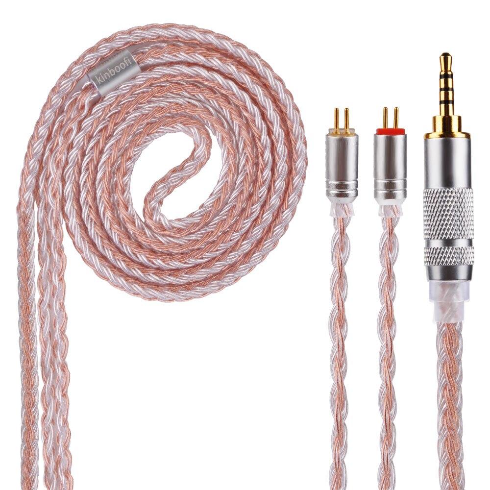 AK Kinboofi 16 Core Argent Plaqué Câble 2.5/3.5/4.4mm Câble Équilibré Avec MMCX/2pin Connecteur