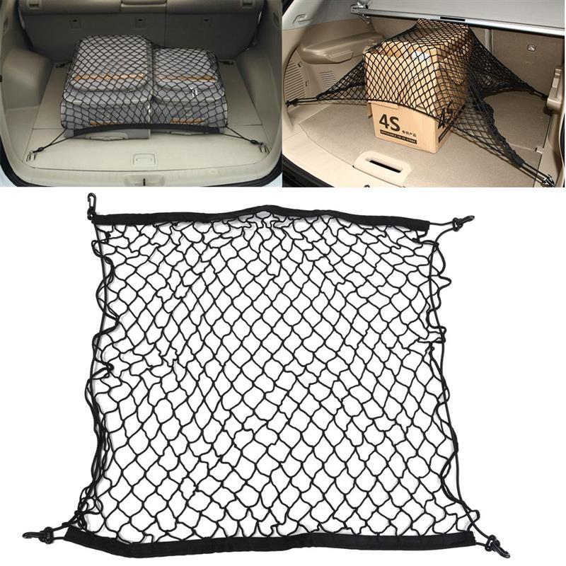 1 шт Горячая распродажа универсальный для хранения багажа в багажник автомобиля Грузовой нейлоновая эластичная сетка 70x70 см с 4 Пластик крюч...