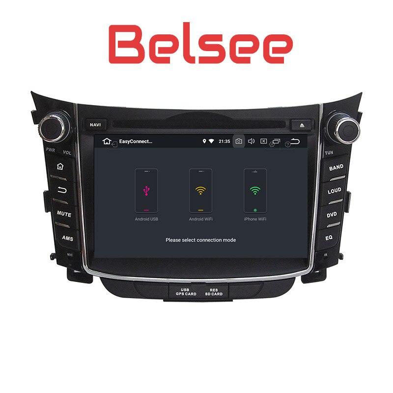 Belsee Hyunda i30 Android 8.0 Auto Head Unit Sat Nav Multimedia Navigator Car Radio Stereo DVD Player Octa Core 4+32GB 2 Din HD