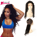 360 Lace Frontal Natural Hairline Malaysian Curly Hair 360 Lace Frontal with Baby Hair Pre Plucked 360 Lace Frontal Closure