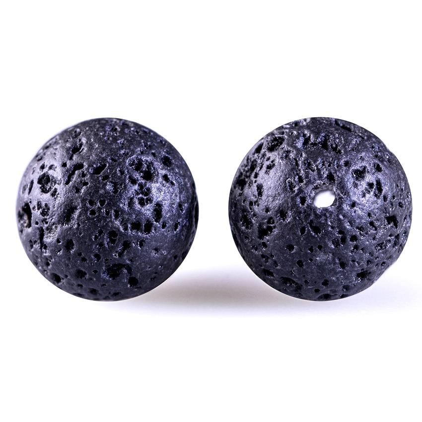 DIY μαύρες ηφαιστειακές χάντρες λάβα - Κοσμήματα μόδας - Φωτογραφία 2