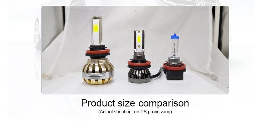 AVACOM 8000K 4300K H7 LED Bulbs H4 LED Car Headlight H1 H8 H9 H11 9005 HB3 9006 HB4 12V 8000LM Auto Headlamp LED 3000K 6500K 60W (16)