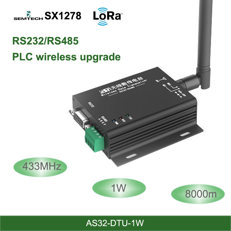 LoRa 433MHz SX1278 RS485 RS232 Interface Rf DTU Transceiver 8km Wireless Uhf Module 433M Industrial-grade Data Transmission Unit