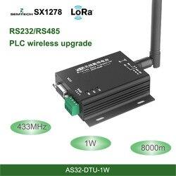 Lora 433 mhz sx1278 rs485 rs232 relação rf dtu transceptor 8km sem fio uhf módulo 433 m unidade de transmissão de dados industrial-grade