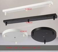 Iron ceiling plate pendant Chandeliers Lamp Base Rectangular DIY Lamp Accessories For Rope Pendant Light Base White/Black