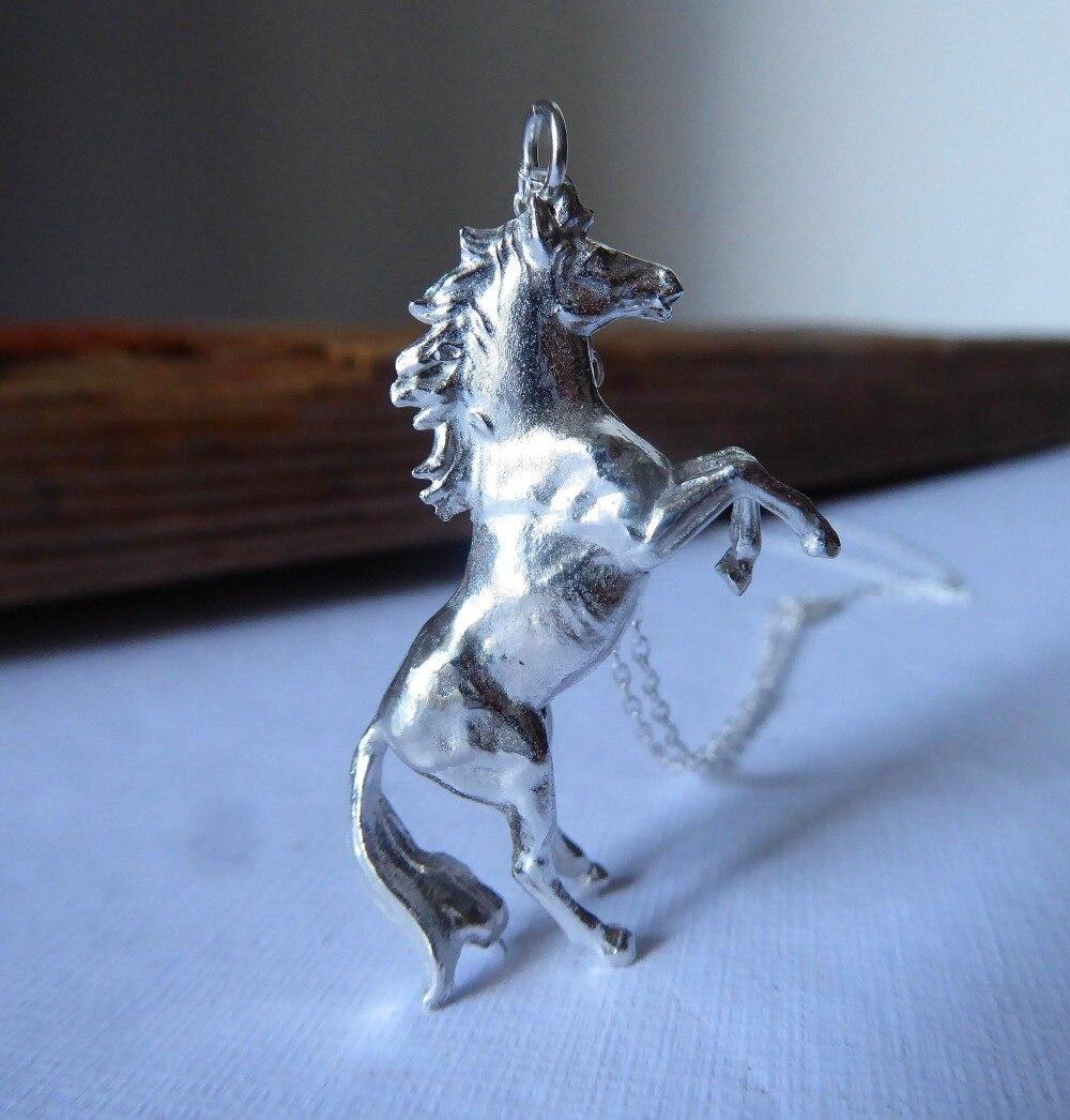 Женское винтажное ожерелье с оленем, серебряная цепочка в виде лошади, свадебное украшение с животным