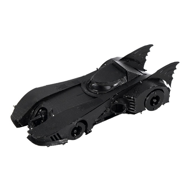 Black Metal 1989 Batman car 3D jigsaw puzzles for adult 2016 New  3D Nano metal DIY scale Model  brain game educational toys