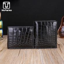 Genuine crocodile wallet men leather Luxury alligator skin short bifold purse Fashion small slim for man BEST GIFT