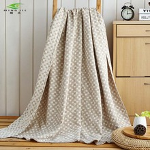 HOT SALE 100% Cotton Washing gauze Towelling Coverlet/Blanket/Throw (Maze Plaid) towel Blankets Bedding set Quilt Sheet Sofa
