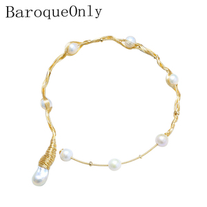 Image 1 - Collier ras du cou de perles multiples fait main BaroqueOnly 1 grande perle 7 perles rondes collier de perles deau douce Vintage
