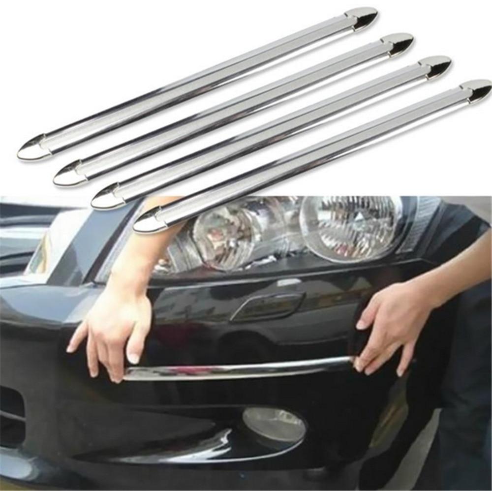 4X Borde de coche SUV Anti-colisión tira parachoques Protector de la barra de protección Anti-frotar raspado al por menor parachoques choque estilo molduras
