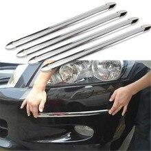 4X Car SUV Edge Anti collision Strip Bumper Protector Protective Guard Bar Anti Rub Scrape Retail Bumper Crash Styling Mouldings
