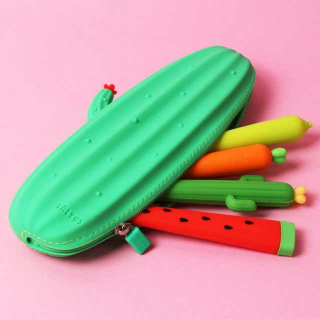 Cactus Silicone Pencil Case