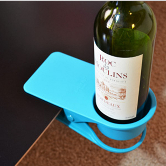 Creative Drink Cup Coffee Glass Holder Stand Clip Desk Table Home Office  Use Desk Cup Holder