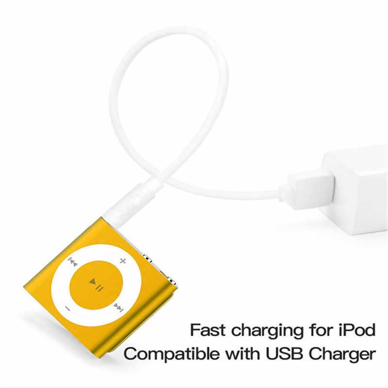 3.5mm Jack USB 2.0 do synchronizacji danych Transfer Audio Adapter kabel do Apple iPod Shuffle 3rd 4th 5th 6th 7th