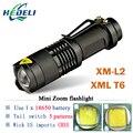 Мини аккумуляторная CREE XM-L2 фонарик led torch XM L T6 водонепроницаемый 3800 люмен 5 режим lanterna вспышка света лампы батареи 18650