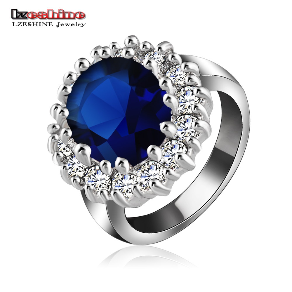 british kate princess diana william engagement ring silver color austrian crystal swa element ring fashion jewelry - Princess Diana Wedding Ring