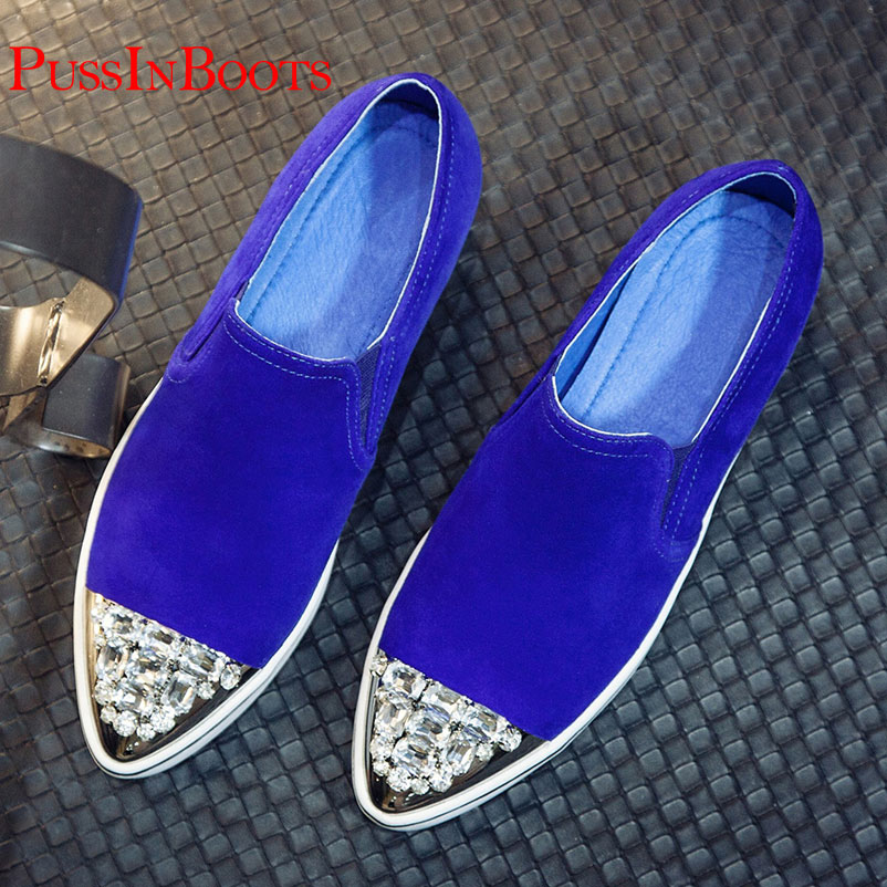 d35c516c2 Flat Shoes Woman Genuine Leather Sheepskin Woman Designer Shoes Famous  Ladies brand Loafers Rhinestones Shoes For Women Loafers