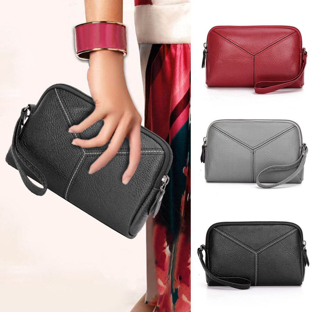2018 New Female Zipper Clutch Purse Women Wallet PU Leather Purse Ladies Small Change Money Bags Pocket Key Coin Holder Case thinkthendo 3 color retro women lady purse zipper small wallet coin key holder case pouch bag new design
