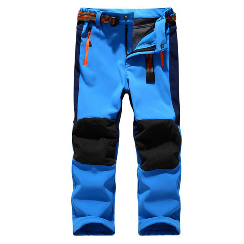 2018 Kids Winter Waterproof Skiing Trekking Fishing Hiking Softshell Pant Children outdoor fleece trouser camping direnjie man winter waterproof fishing camping trekking fleece softshell outdoor jacket pant set sport hiking trousers 5xl s36
