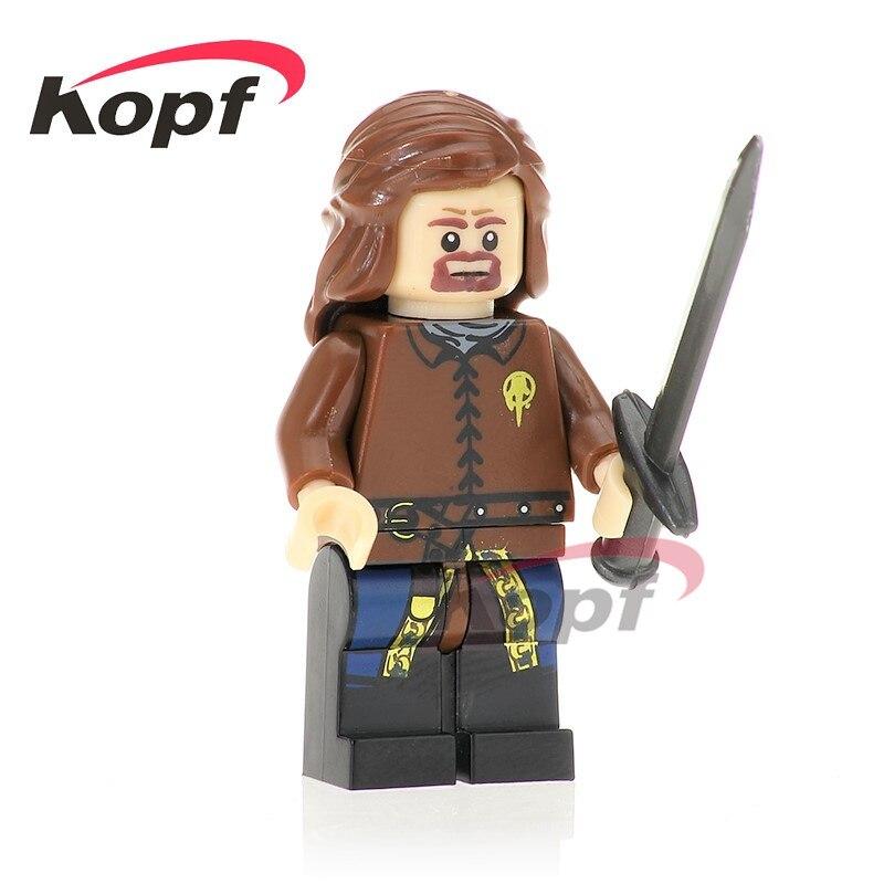 Single Sale Game of Thrones Eddard Stark Super Heroes Jon Snow Khal Drogo Ice and Fire Building Blocks Kids Gift Toys PG1062