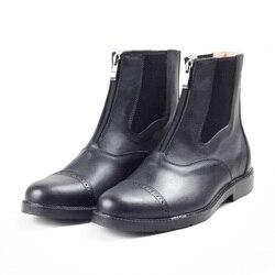 Aoud/ботинки для верховой езды; Высококачественная кожаная обувь на молнии для мужчин и женщин; Paardrijden Laarze Horse Hootsn Halter