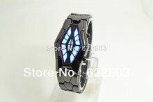 2016 nueva Binario relojes Impermeables hombres mujeres diseño único en forma de serpiente LED nueva mesa de acero Unisex reloj de regalo Sorpresa