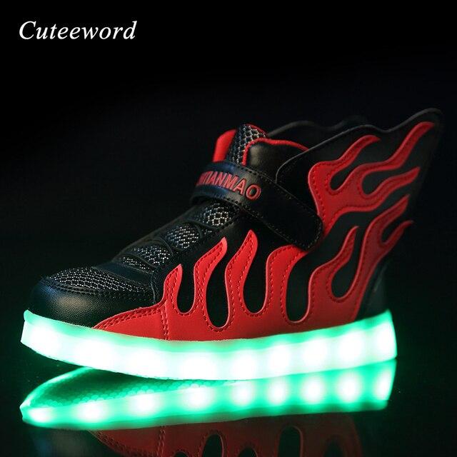 Carga Usb Zapatillas Iluminación Led Marca Los Niños De Zapatos 7wtqFx6