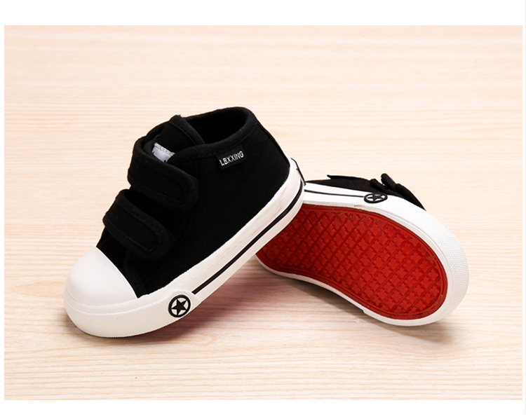LABIXIAOXING Baby White Canvas Shoes 4 Colors kids Baby Girls and Boys Casual Shoes Flat and Durable Sneakers 11