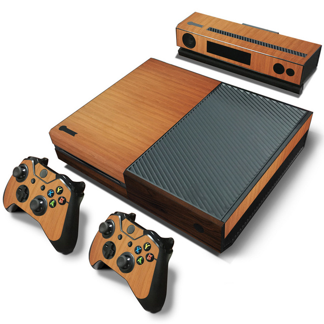 Wood Vinyl Skin Sticker Protector For Microsoft Xbox One and 2 controller skins Stickers For Xbox One Mando Manttee Decal