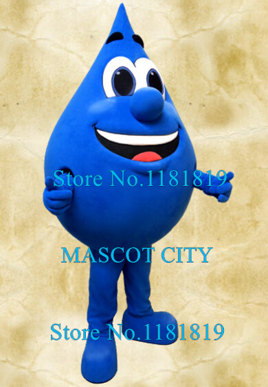 Mascota de la publicidad primavera gota de agua mascota agua purificada  gota traje adulto anime Cosplay disfraces de dibujos animados vestido de  lujo en ... de8ed93674f