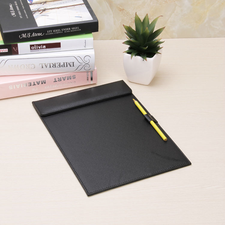 A4 PU Leather Business Office Conference Agreement Report Menu File Folder Clipboard Notepad Desk Organizer Accessories 311A