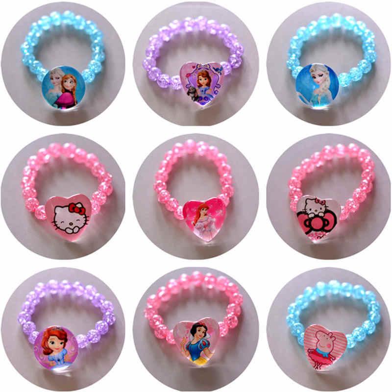 Acessórios Da Boneca das Crianças Pulseira de Pérolas Pulseira de Princesa da disney Jóias F
