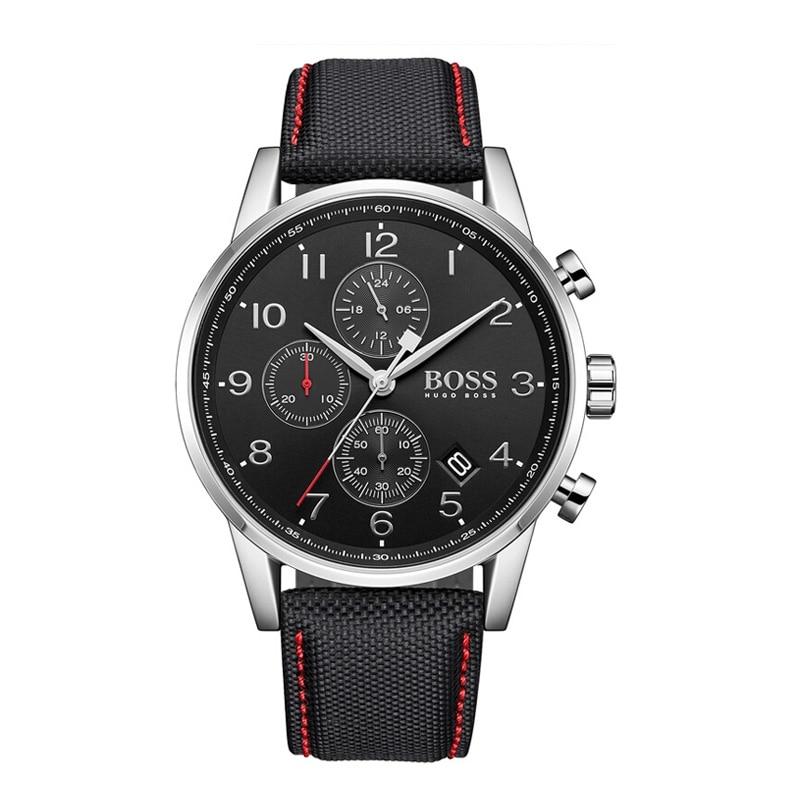 BOSS Mens Quartz Watch Chronograph Fashion Trend Leather Mens Watch sport Black Watch - 1513535BOSS Mens Quartz Watch Chronograph Fashion Trend Leather Mens Watch sport Black Watch - 1513535