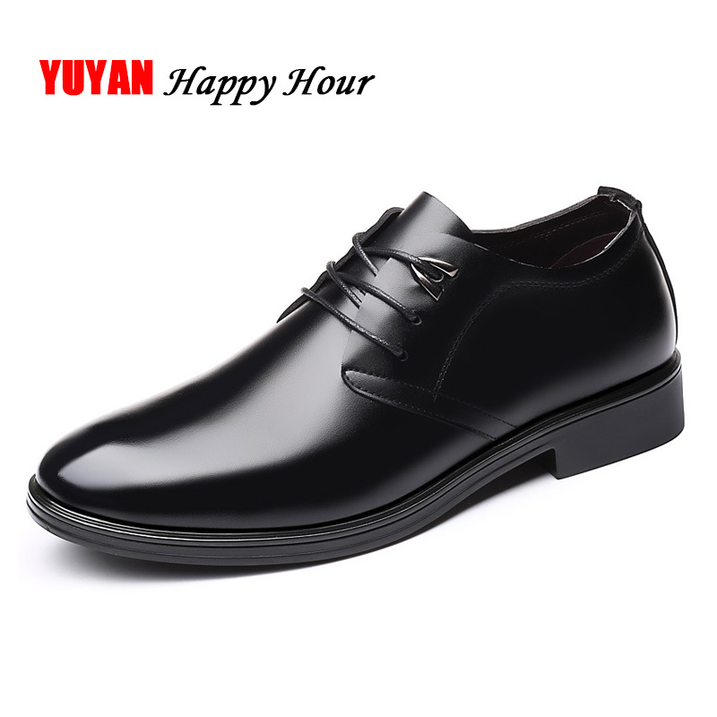 Genuine Leather Men Shoes 2019 Business Oxfords Men Casual Shoes Cow Leather Male Footwear KA1020