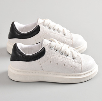 hot sell fashion brand leather white girls and boy...