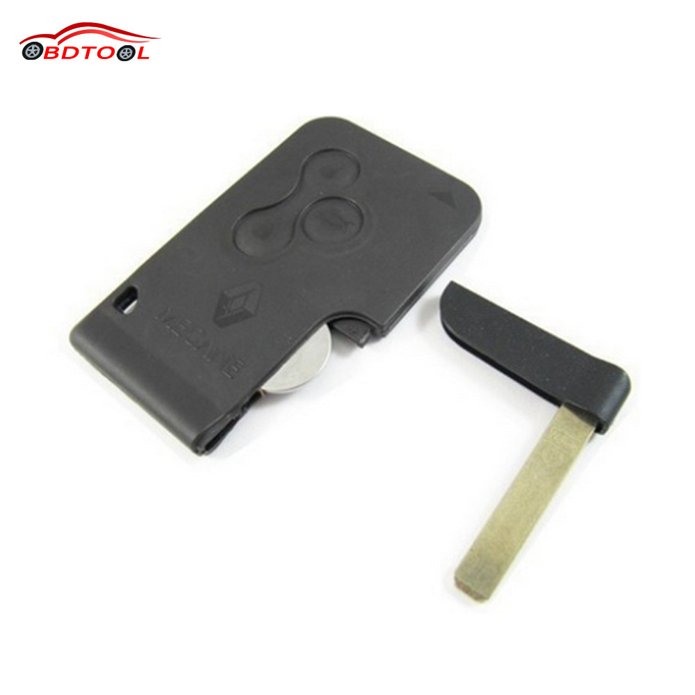 High Quality Renault Megane Smart Card 3 Button 433mhz with key blade 3 buttons smart card ID46 chip 434MHZ brand new high quality remote key keyless alarm 2 button for renault laguna smart card with insert small key blade 434mhz