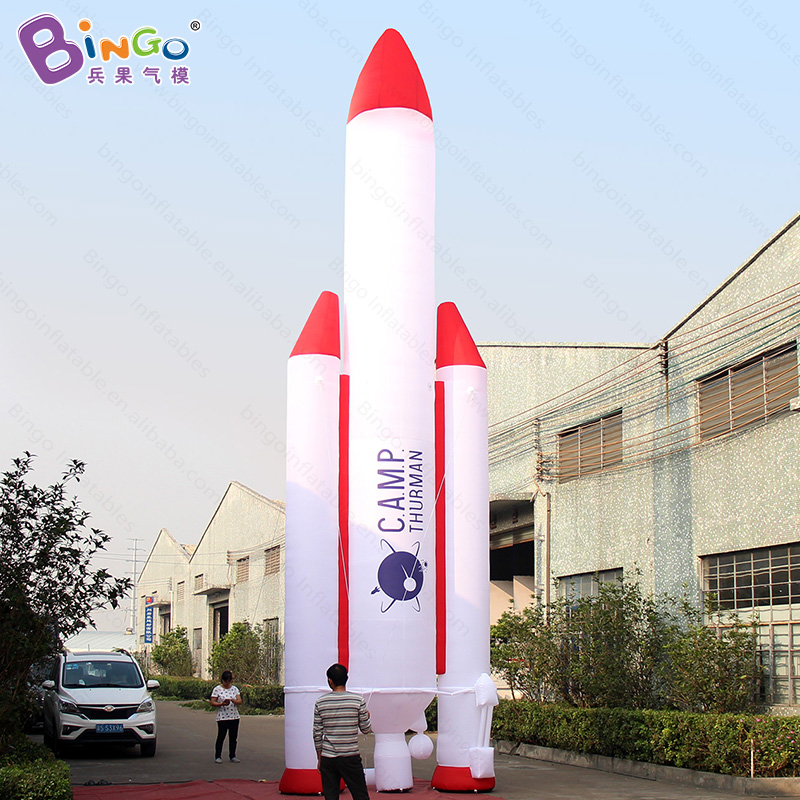 купить 10m high inflatable missile balloon, space rocket, airplane ship balloon replica for advertising- inflatable toy недорого
