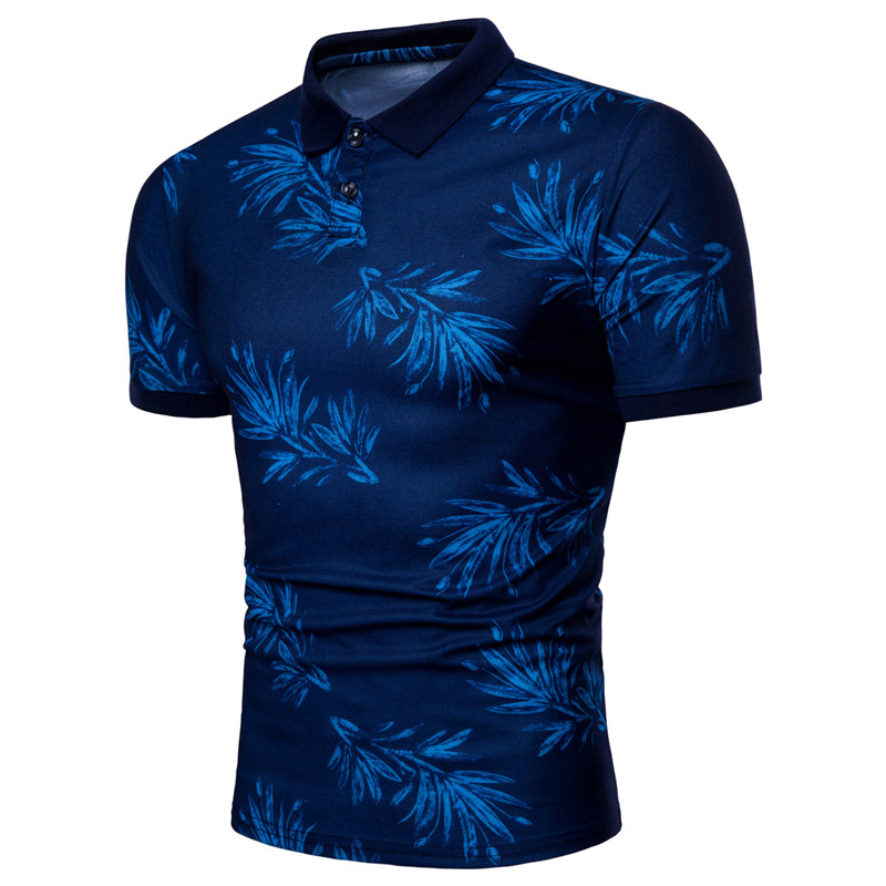 Short Sleeve Men's   Polo   Shirt Print Comfortable Blend   Polo   Shirt Men Casual Fashion Office   Polo   Shirt New 2018 PL11