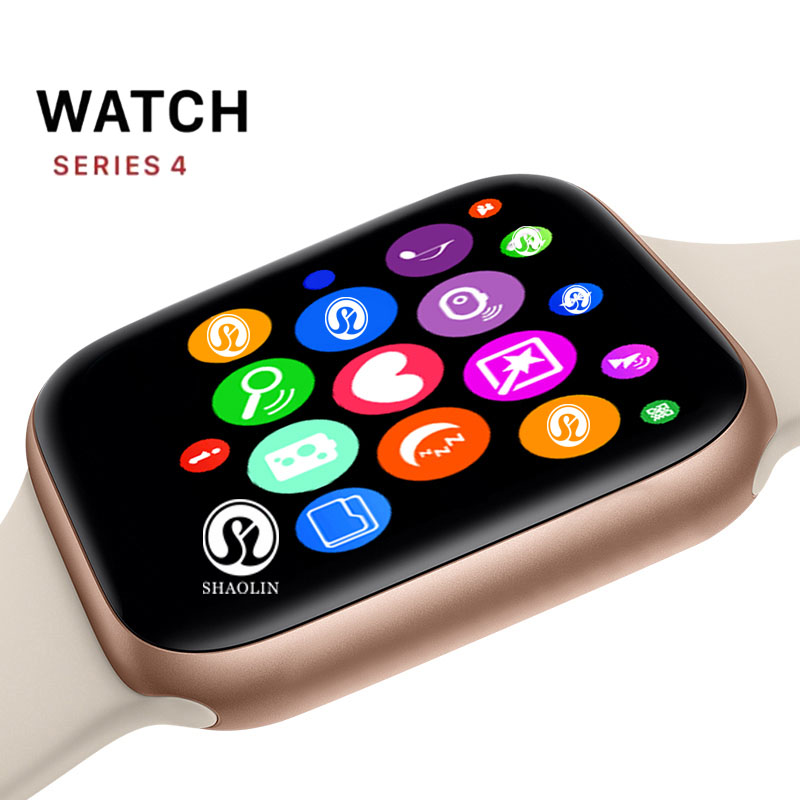 Montre intelligente au poignet 42 MM série 4 Smartwatch mise à jour pour Apple Watch tout compatible avec ios iPhone android Samsung Phone