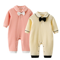 Newborn   Baby     Rompers   Winter Clothes Fashion Long Sleeves Infant Boys Jumpsuits One Piece Autumn Candy Color Toddler Kids Overall