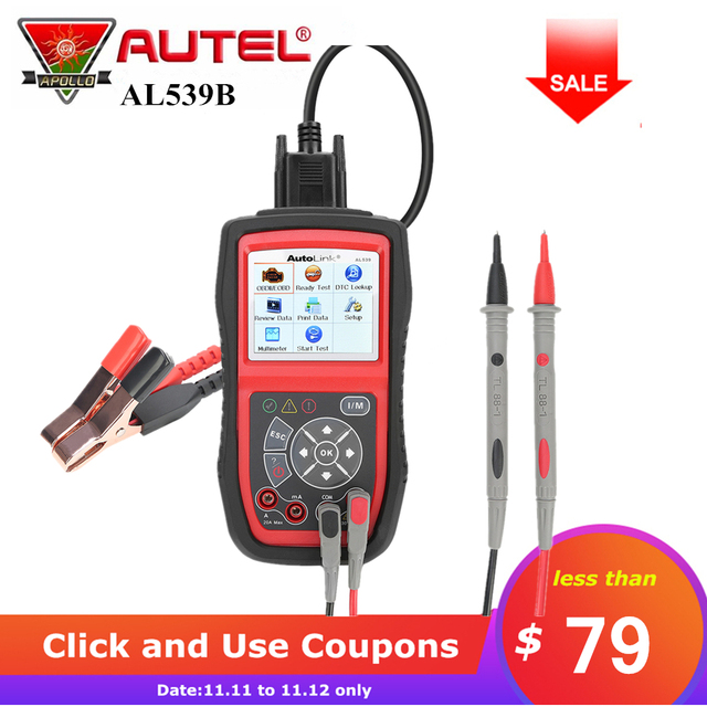Best Price Autel AutoLink AL539b OBD 2 Code Reader Electrical Test OBD2 Scan Tool Auto Scanner Automotive Escaner Automotivo Automotriz