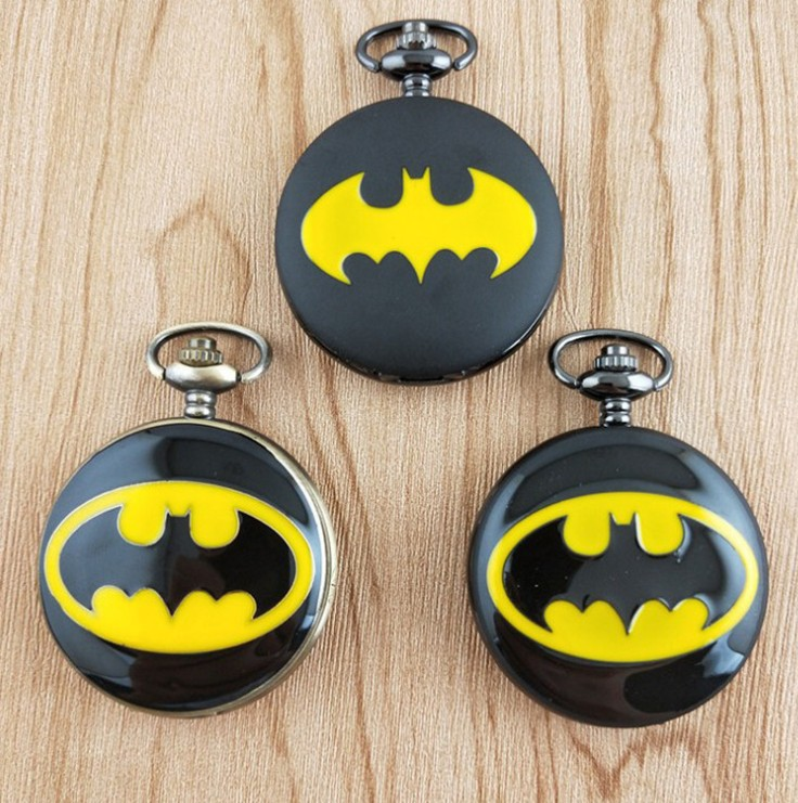 Popular Gifts For Children Kid Boy Cool Batman Quartz Watch Comics Pocket Watches Male Clock Necklace Pendant Men's Women's Gift