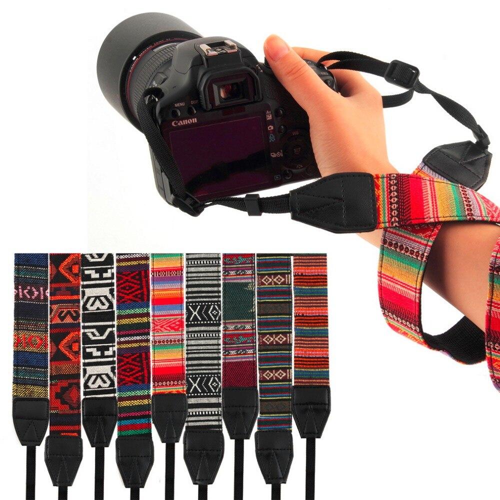 Afbeeldingsresultaat voor 3 in 1 camera bandjes vintage hippie stijl canvas schouder hals duurzaam katoen voor nikon pentax sony canon dslr camera