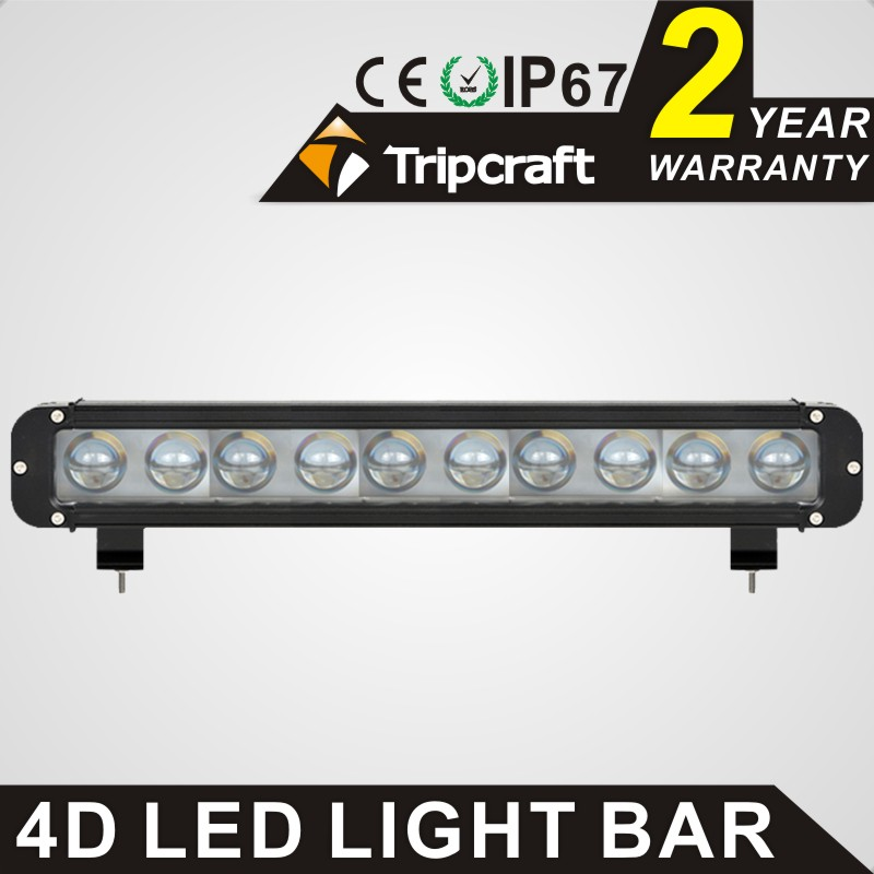 TRIPCRAFT 100W 4D LED work light bar single row car lamp for offroad driving lamp 4x4 truck ATV spot flood combo beam fog light tripcraft 126w led work light bar 20inch spot flood combo beam car light for offroad 4x4 truck suv atv 4wd driving lamp fog lamp