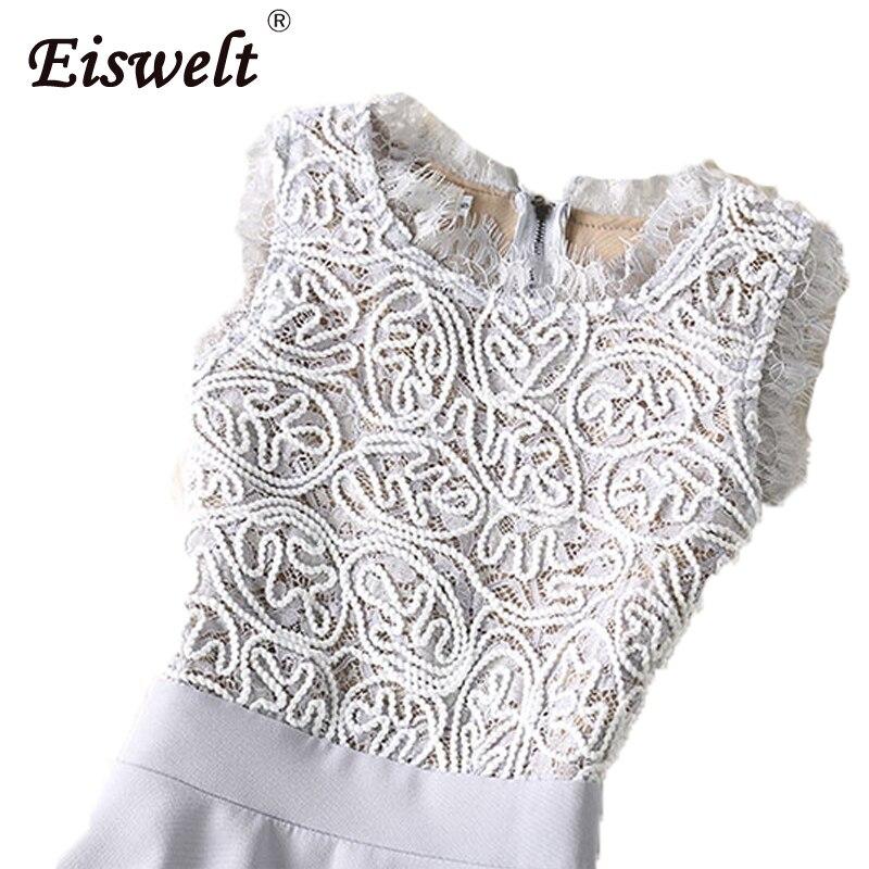 6b2c669f81a7 EISWELT Vestidos Lace Dress Elegant Women Short Prom Office Slim Party  Dresses Summer 2018 Casual Beach Dress