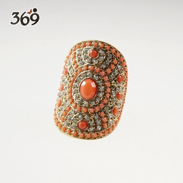 2013 fashion retro imitation stone stretch Finger Ring for women party