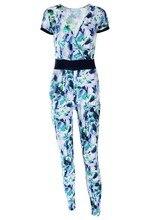 2016 Fashion Macaquinho Jumpsuit Women Long Pants Suit Playsuit Bodysuit Flower Floral Print Jumpsuits Overalls For Women 50